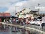 Ponto de ônibus lotados na região do Subúrbio Ferroviário de Salvador